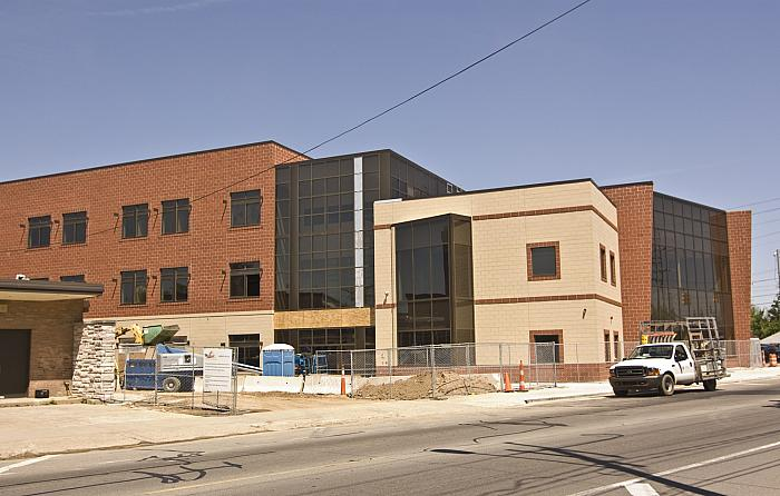 Construction of Cesar E. Chavez Elementary School, Looking NW