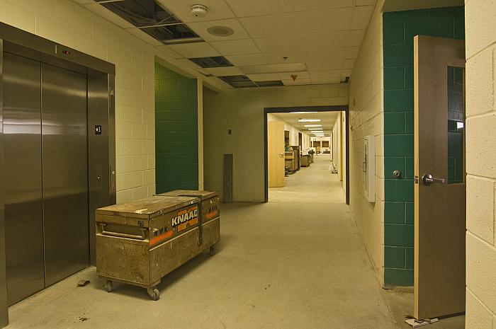 Construction of Cesar E. Chavez Elementary School, Interior