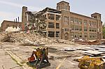 Demolition of Iroquois Middle School, Looking South