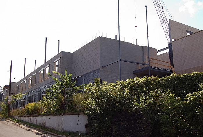 Construction of Cesar E. Chavez Elementary School, Looking East