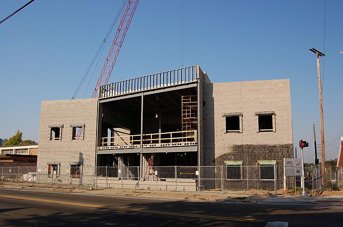 Construction of Cesar E. Chavez Elementary School, Grandville Ave.