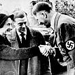 Wallis Simpson and Edward Greeting Hitler