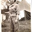 WWII US Army Nurse Joy Lillie in Field Hospital Uniform