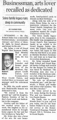 Robert Seino Obituary