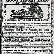 Stagecoach Line Advertisement