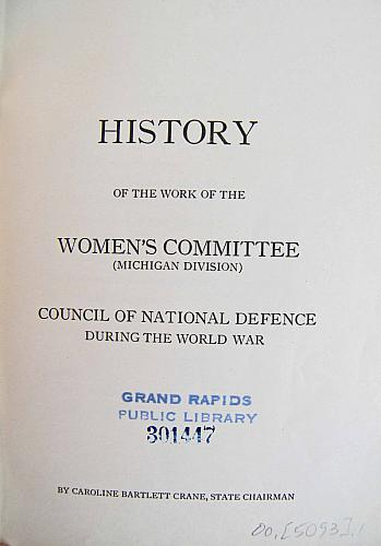 History of the Woman's Committee