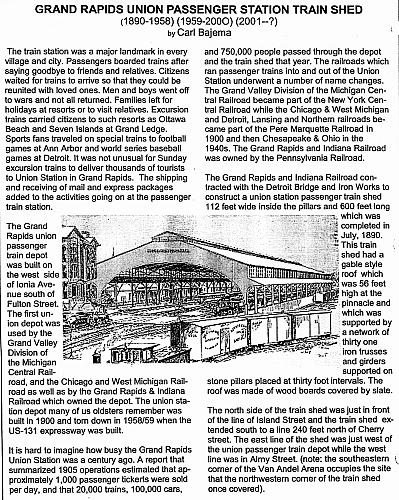 Grand Rapids Union Station Train Shed, part 1