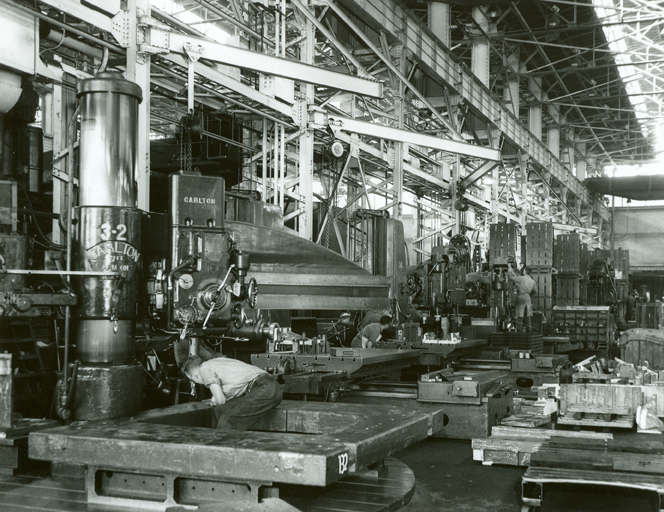 metal stamping plant interior