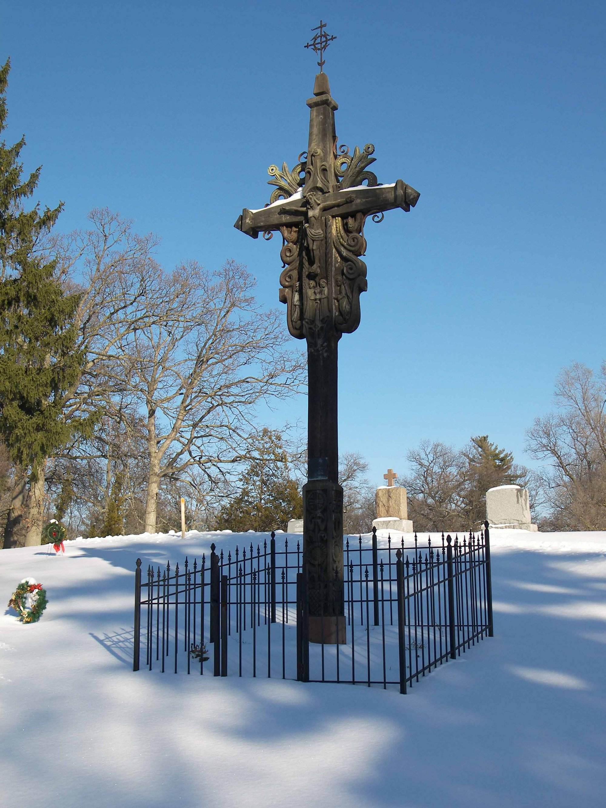 Lithuanian Crucifix Ss Peter Amp Paul Cemetery History