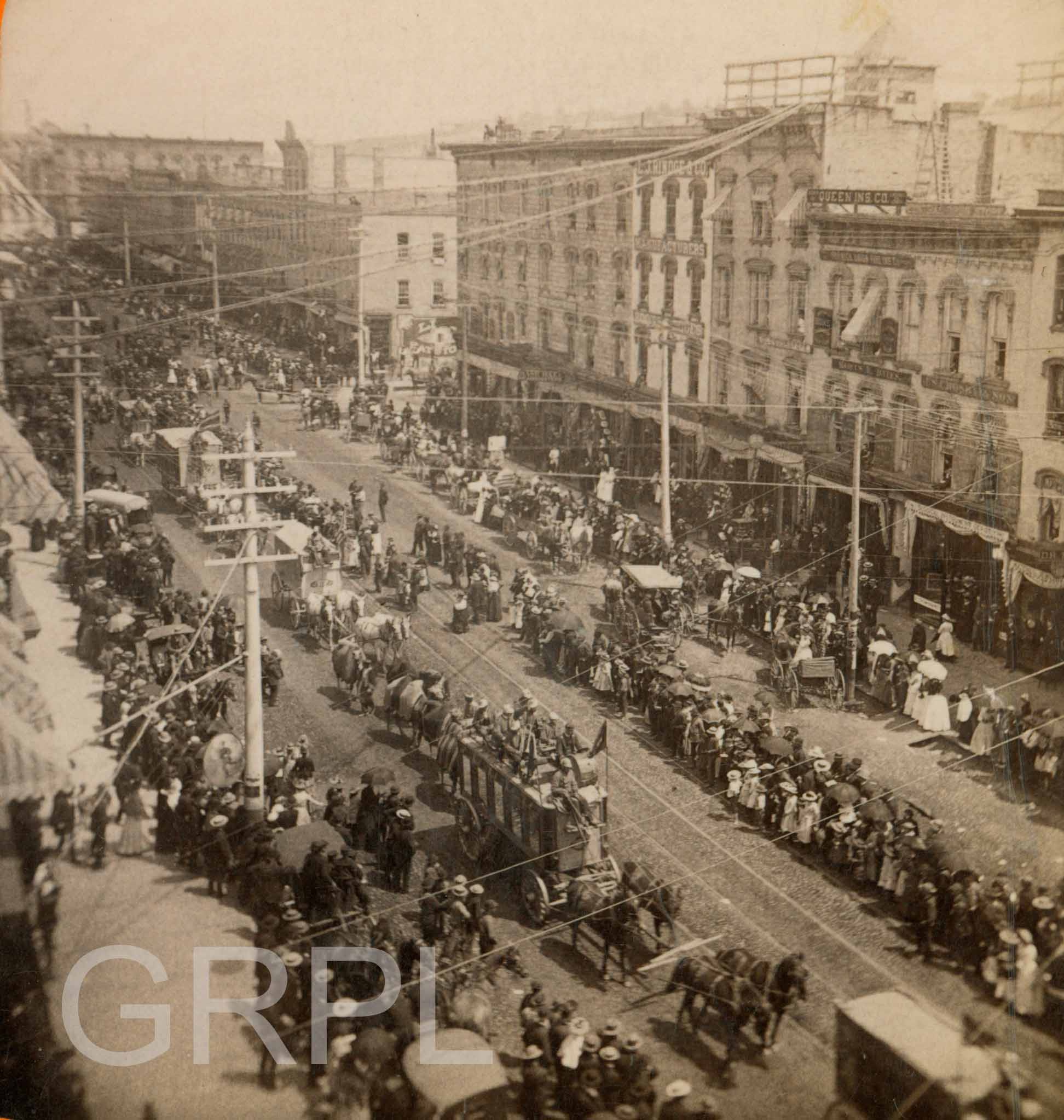 Circus Parade On Canal Street History Grand Rapids