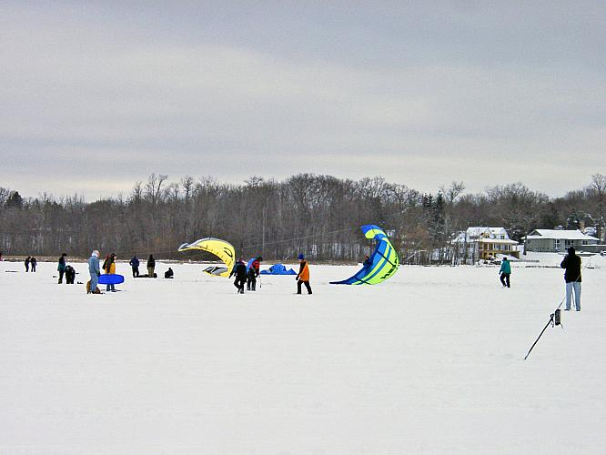 Ice Kites on Reeds Lake