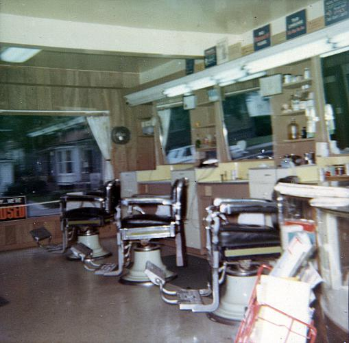 Groce's Barber Shop on Baxter St.