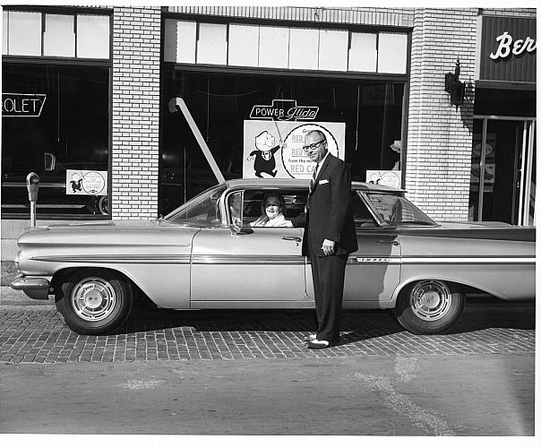 Dale Berger, Sr. with New Chevrolet Impala