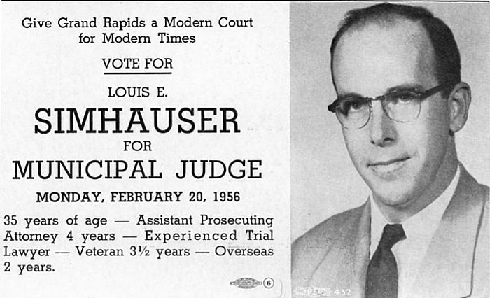 Louis E. Simhauser for Municipal Judge
