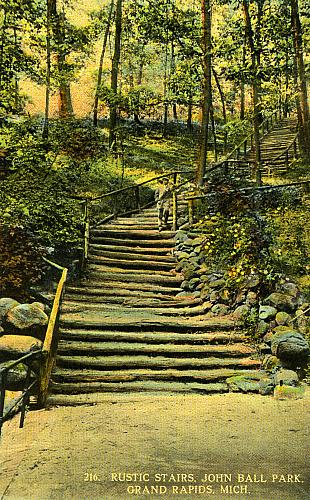 Rustic Stairs at John Ball Park