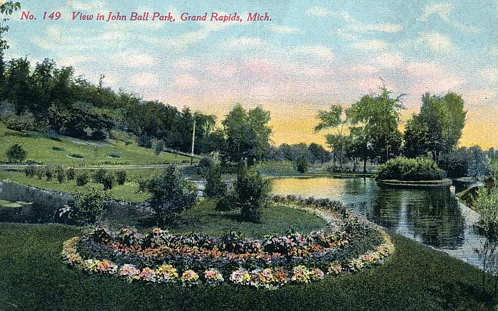 Gardens and Lake in John Ball Park