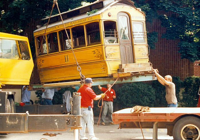 Moving the GR Railway Co. Streetcar