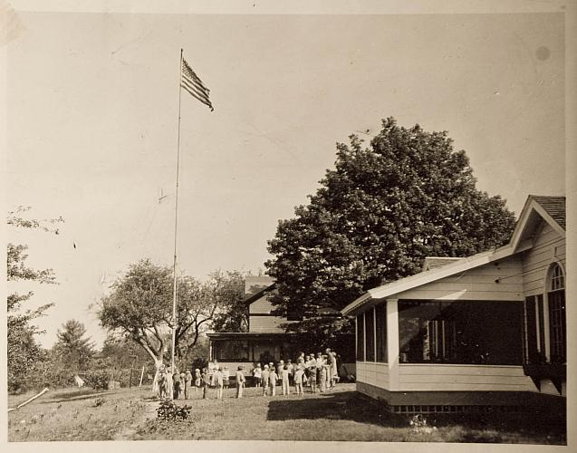 Flag Raising at Camp Blodgett