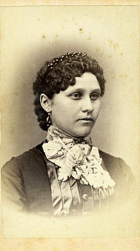 Young woman with jabot