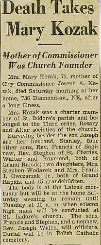 Mary Kozak Obituary
