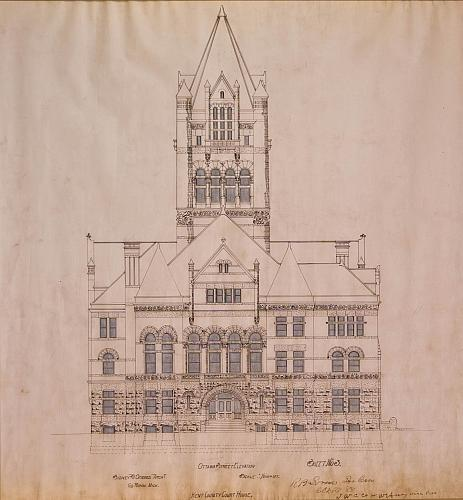 Kent County Court House, Ottawa St. Elevation