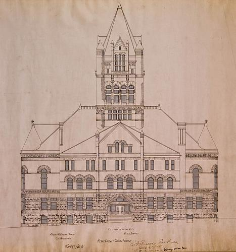Kent County Court House, Elevation on the Alley