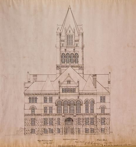 Kent County Court House, Kent St. Elevation