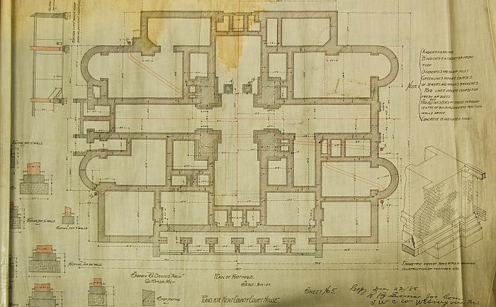 Kent County Court House, Plan of Footings