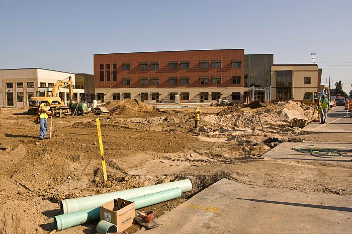 Construction of Cesar E. Chavez Elementary School, Looking North