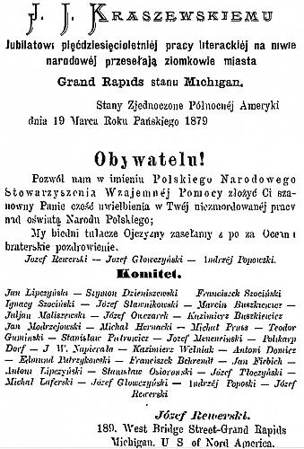 Letter from Grand Rapids to Poland, 1879