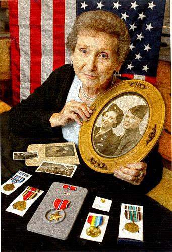 Joy Lillie with Military Medals