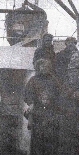 Wagnar Family Aboard Ship from the Netherlands to the United States