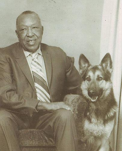 Frank Lamar and his Dog