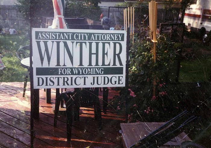 Winther Campaign Sign