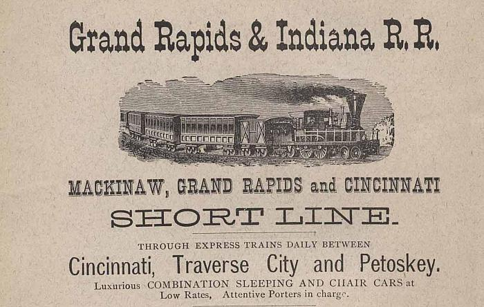 Grand Rapids & Indiana Railroad advertisement