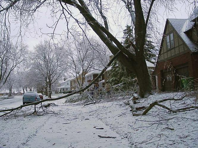 Winter Storm Damage on Pontiac SE