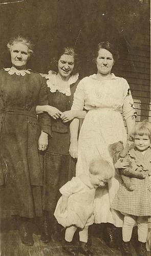 Lynch Family on the Porch at 19 Queen St. NE