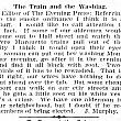 The Train and the Washing