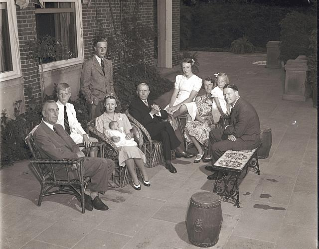 Blodgett Family on the Terrace