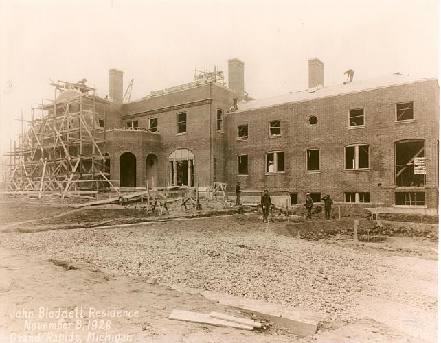 Construction of Brookby, November 8, Rear View