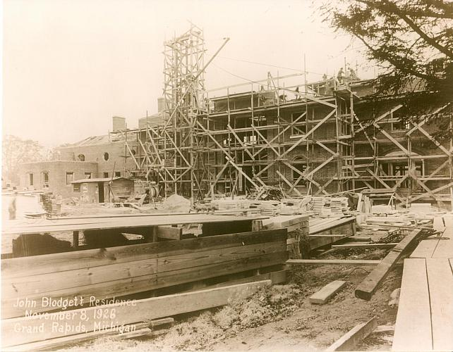Construction of Brookby, November 8, Front View
