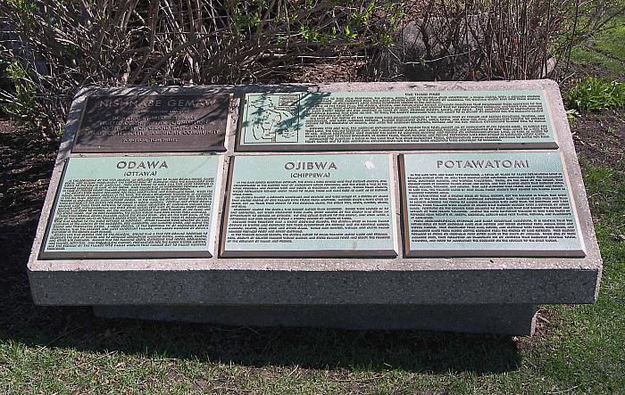 Native American Marker in Ah-Nab-Awen Park