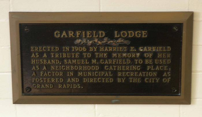 Garfield Lodge Dedication Plaque