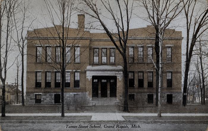 Turner Street School Rebuilt After the Fire