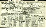 Agnes Bell Registration Card, front