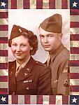 Joy and Russ Lillie in Full Dress Military Uniforms