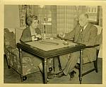Bert and Linda Long Playing Cribbage